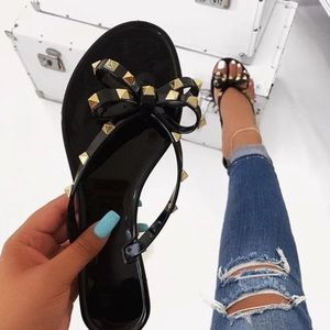 ✨Studded bow Jelly Sandal✨